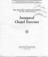 Inaugural Chapel Exercises