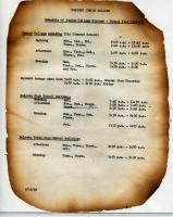 Schedule of Junior College Classes